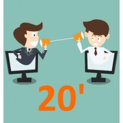 Echanger avec un conseiller - 20 minutes